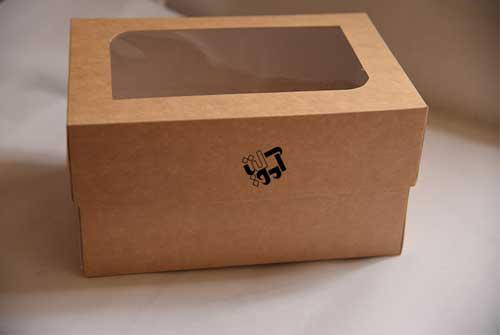 جعبه کاپ کیک ۶ عددی کاهی رنگ