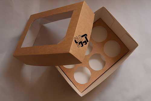 جعبه کاپ کيک 6 عددي - فروش اينترنتي جعبه کاپ کيک