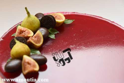 چیز کیک ژله ای آلبالویی - هنرخانه آموتیا