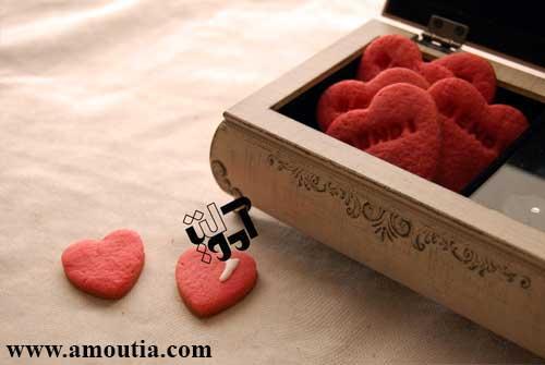 کوکی قلب حکاکی شده با اسم - هنرخانه آموتیا