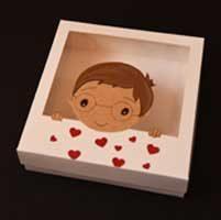 جعبه ولنتاین طرح پسر - سفارش جعبه ولنتاین