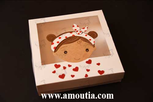 جعبه ولنتاین طرح دختر - سفارش جعبه ولنتاین