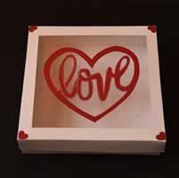 جعبه ولنتاین برای کوکی - جعبه کوکی طرح ولنتاین (love)
