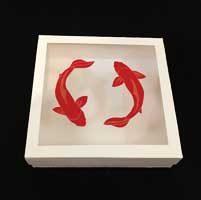 جعبه شیرینی نوروز با طرح ماهی قرمز نوروزی - فروش جعبه شیرینی عید نوروز