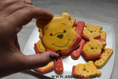 کوکی تولد یک سالگی با تم زیبای خرس پو ( وینی پو )