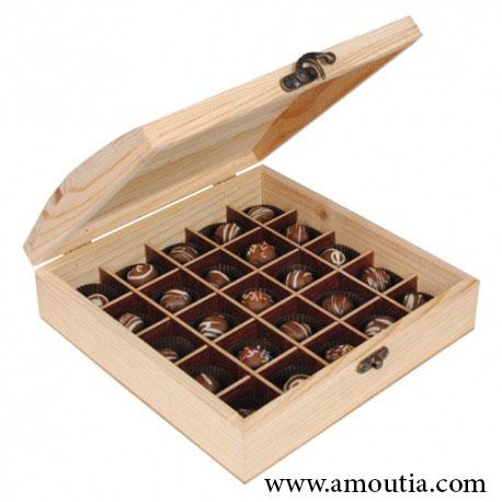 جعبه شکلات با تقسیم بندی 25 عددی