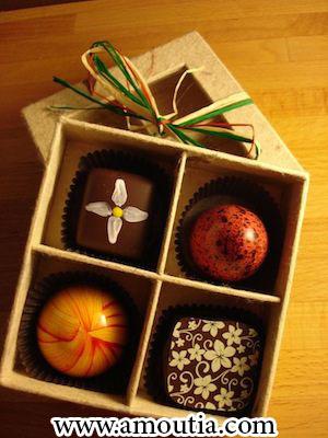 جعبه شکلات با درب جداگانه
