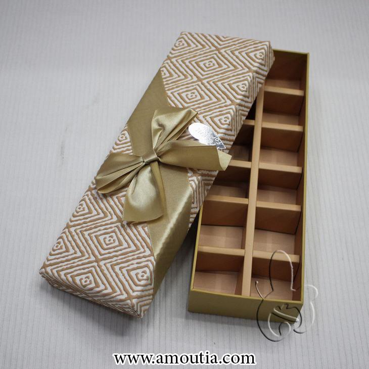 جعبه شکلات با تزئین پاپیون