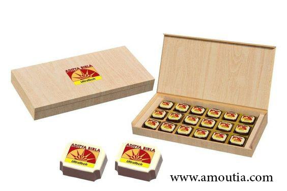جعبه شکلات مستطیل درب پوسته