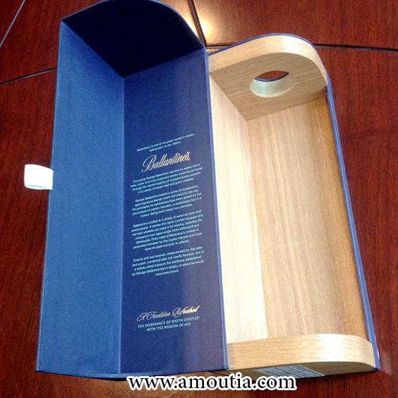 جعبه شکلات چوبی استوانه ای