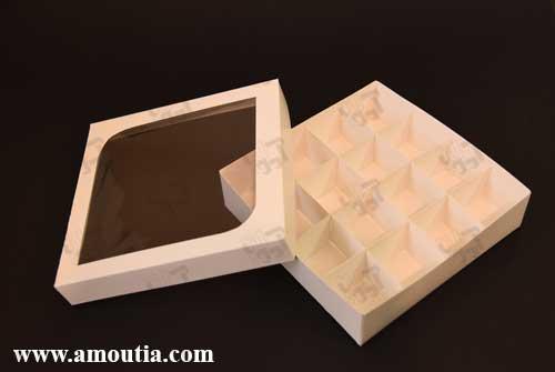 جعبه ترافل و جعبه شکلات دست ساز