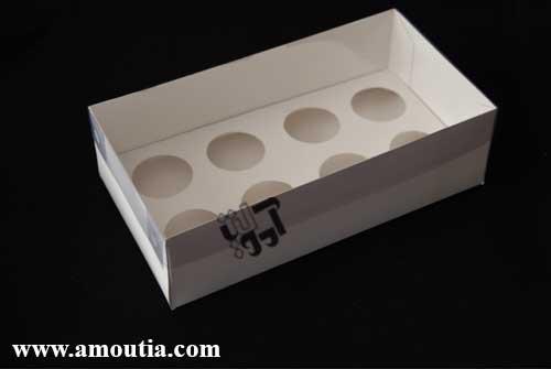 جعبه کاپ کیک 8 عددی با درب کاملا طلقی