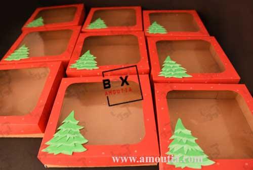 عکس جعبه های کریسمس با تم درخت کاج