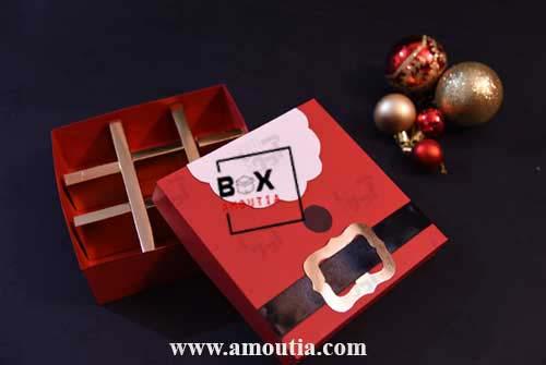 جعبه شکلات با طرح کریسمس