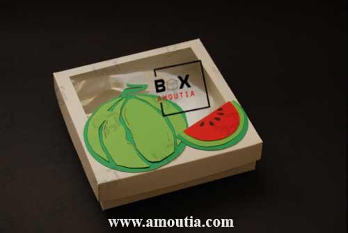 عکس تکی از جعبه هندونه برای شب یلدا