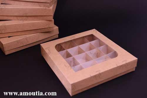 جعبه شکلات درب بسته 16 تایی