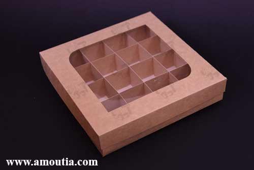 جعبه شکلات به همراه جدا کننده