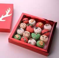 پکیج 16 عدی شیرینی ماکارون با تم کریسمس 2020
