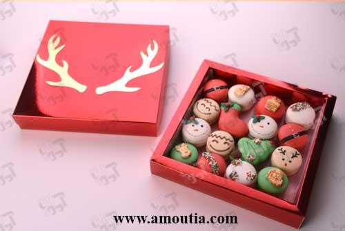 جعبه کریسمس طرح شاخ گوزن
